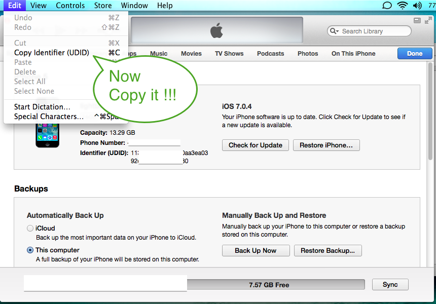 How to get UDID in iOS device? - Mag2GO