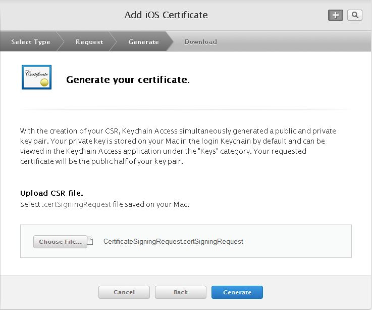 How to create a client ssl certificate mag2go after you click continue you will be asked to upload the certificate signing request you generate from the first step of this tutorial yadclub Choice Image
